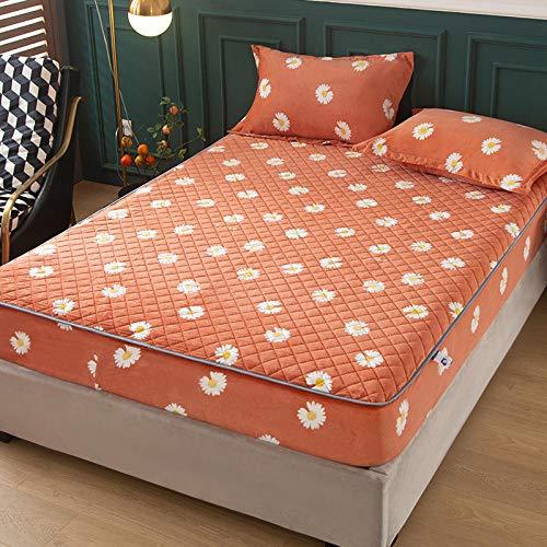 CYYyang Unterbett Soft-Matratzen-Topper, Matratzenschutz Boxspring-Betten geeignet Einfache staubdichte Bettdecke aus Samt - 2_120 * 200 cm