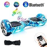BEBK Overboard 6,5 Pouces Hoverboard Bluetooth, Électrique Auto-Équilibrage Scooter, Adulte Tout-Terrain Smart LED Gyropode, Enfant Cadeaux