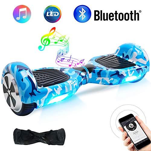BEBK Overboard 6,5 Pouces Hoverboard Bluetooth, lectrique Auto-quilibrage Scooter, Adulte Tout-Terrain Smart LED Gyropode, Enfant Cadeaux