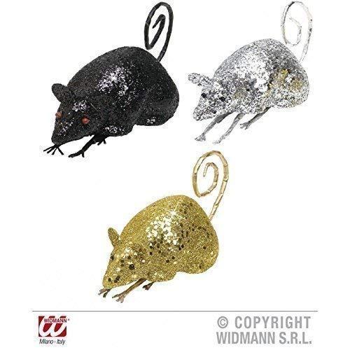 Lively Moments 3 Souris / Rats Scintillant en 3 Couleurs Env. 12 cm / Décoration de Halloween / Décoration de Table/Salle de Séjour Déco