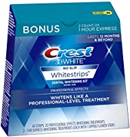 Crest 3D White Professional Effects Whitestrips 20 Treatments + Crest 3D White 1 Hour Express Whitestrips 2 Treatments -...