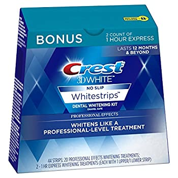 Crest 3D White Professional Effects Whitestrips Dental Teeth Whitening Strips Kit, Teeth Whitening Kits