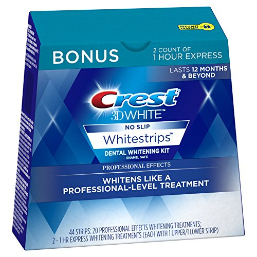 Crest 3D White Professional Effects Whitestrips, 20 Treatments – Teeth Whitening Kit, 44 Counts (49% Off)