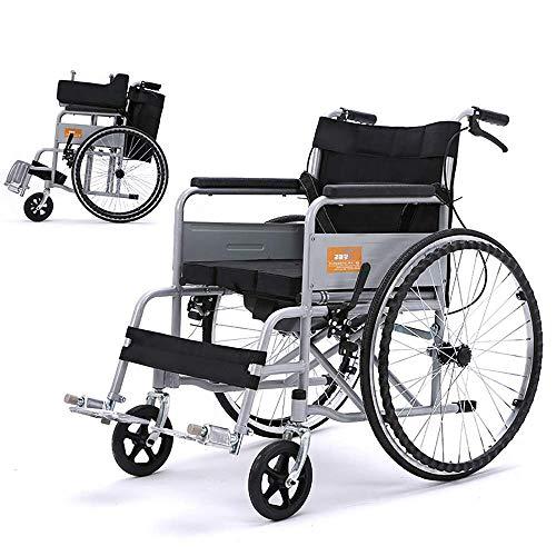 CHAIR Rollstuhl-leichter Transport, der tragbaren Reise-Stuhl-älteren untauglichen Skateboard-manuellen Haushalt mit Toilette faltet