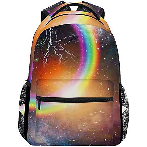 Precious Meet Space Galaxy Rainbow Sacs à Dos Cosmic Spiral Book Bag Casual Sac à Dos pour Ordinateur Portable étanche Léger Voyage Sports