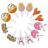Toddmomy 12 Piezas de Cupcake de Pascua Topperscake Decoración de La Torta para Suministros de Fiesta de Pascua