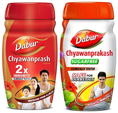 Dabur Chyawanprash 2X Immunity - 1kg & Dabur Chyawanprakash...