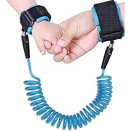 Anti-Lost Wrist Link Blue Reflective Anti-Lost Wrist Chain with Child Lock 6.56 feet.
