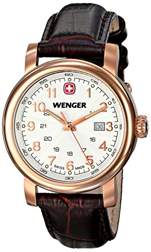 Wenger Women's 01.1021.108 Urban Classic 3H Analog Display Swiss Quartz Black Watch