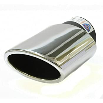 Universal 2761 Car Exhaust Tip Trim End Pipe Tail Sport Muffler Stainless Steel Chrome