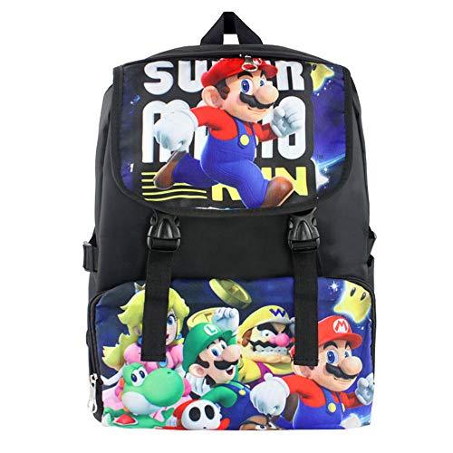 Super Mario Schulrucksack Persönlichkeit Cartoon gedruckt Daypack Freizeit Rucksack Reisetasche Super Mario Kinderrucksäcke (Color : A1, Size : 30 x 16 x 45cm)