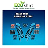 Ecoshirt 20-J399-ZN8H Autocollants Stickers Fork Rock Shox Xc32 2017 Am122 Autocollants Fourche Bleu...