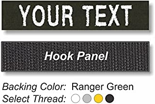 TACTICAL IDENTIFICATION PATCHES Custom Embroidered Uniform Name Tapes on Twill Fabric