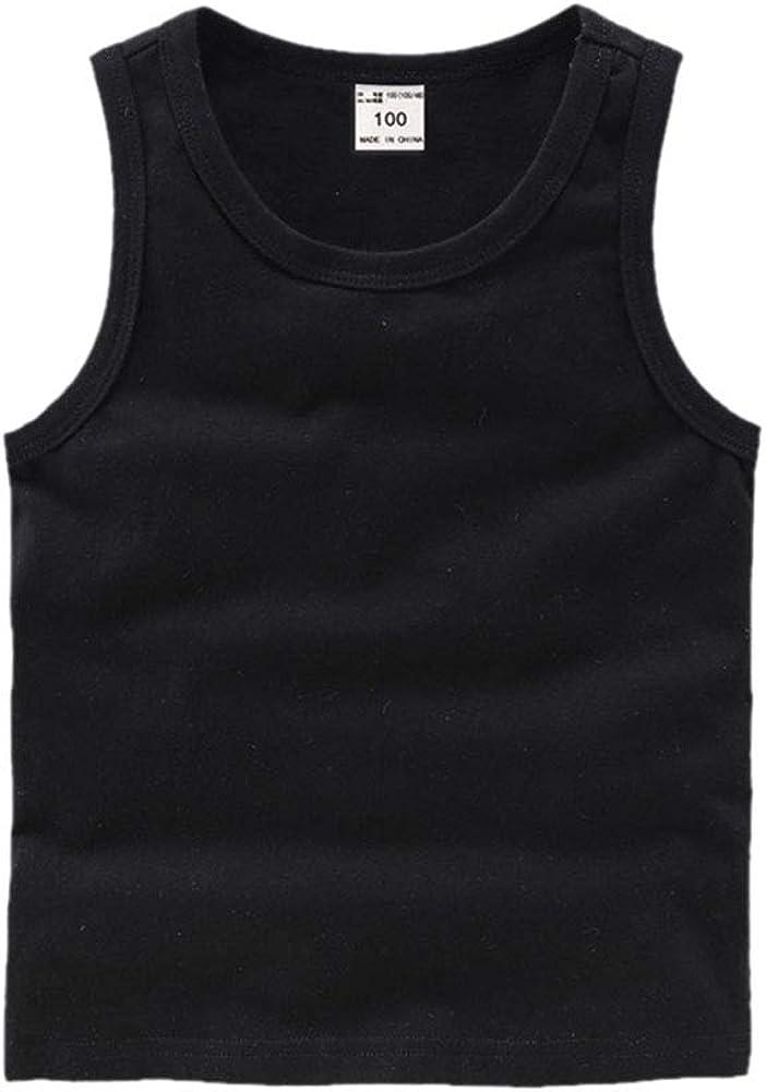 DCUTERQ Toddler Baby Boys Girls Solid Tank Tops T-Shirts Undershirts Cotton Summer Sleeveless Vest