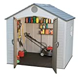 Lifetime 6406 8 X 5 Ft Outdoor Storage Shed with Window-Desert, Mixed Colors