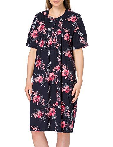 Schiesser Damen 1/2 Arm, 100cm Nachthemd, Nachtblau, 46