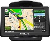 AWESAFE Navigationsgeräte für Auto LKW 5 Zoll Touchscreen Navigation Lebenslang Kostenloses Kartenupdate 2020 Europa-Karte
