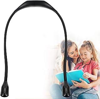 Haofy Luz de Libro de Abrazo Lámpara de Lectura Luz de Linterna Cuello Iluminación para Lectura Recargable, 4 LED Bombillas, 3 Brillo Ajustable, para Cama o Coche[Clase de eficiencia energética A+]