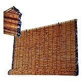 LKLXJ Persiana Bambu Exterior, Persianas De Caña, con Bordes De Tela Azul,...