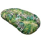 Croci Cuscino Ovale per Cani e Gatti Amazzonia, Mobido, Utilizzabile su Entrambi i Lati, Fantasia Arredo Jungle Style, 87X57 Cm