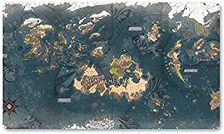 Dominaria Map - Board Game MTG Playmat Table Mat Games Size 60X35 cm Mousepad Play Mat for Yugioh Pokemon Magic The Gathering