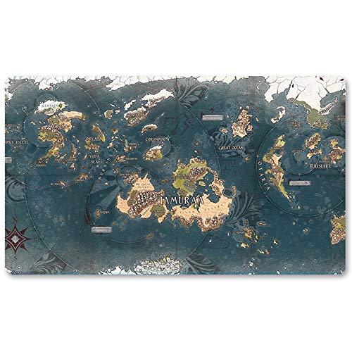 Dominaria Map – Juego de mesa MTG alfombra de juego tamaño 60 x 35 cm alfombrilla de ratón para Yugioh Pokemon Magic The Gathering