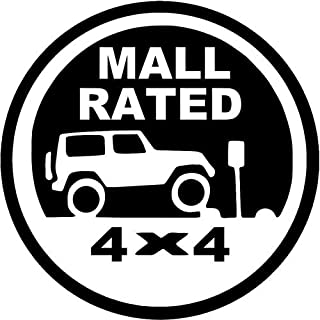 Mall Rated Jeep Trail Vinyl Decal Sticker- 6