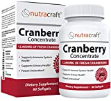 #1 Cranberry Extract Supplement for Bladder & Urinary Tract Support - 12,600 mg of Fresh Cranberries, Vitamin C & E and Polyphenols per Capsule - 60 Softgels