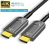YEHUA Cavo HDMI 4K 10M, Cavo HDMI ad Alta Velocità, 3D, Ethernet, Cavo a Fibra Ottica 4K @ 60Hz, Riproduzione Audio 4K e ARC, Compatibile con Xbox 360, PS4, Lettore Blu-Ray