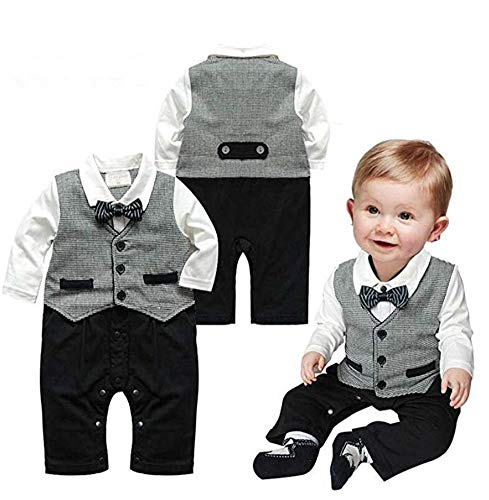 Bebé Pelele moda caballero manga larga Niños Ropa