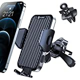 Andobil Newest Car Vent Phone Holder Mount [Never Fall Off & Fit All Vent] Hands Free & Universal Air Vent Phone Holder for Car, Compatible with iPhone 12/12 Pro/12 Pro Max/11, Samsung S21/S20 etc