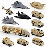 BeebeeRun Military Car Toys for Kids, Set of 12 Special Forces Military Vehicle