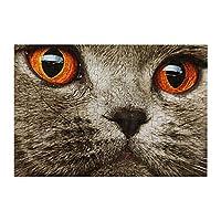 98ピース ジグソーパズル スコティッシュフォールド 猫の顔 木製パズル 脳チャレンジ Diyの家の装飾 特別プレゼント 楽しい遊び ピクチュアパズル(20x29cm)