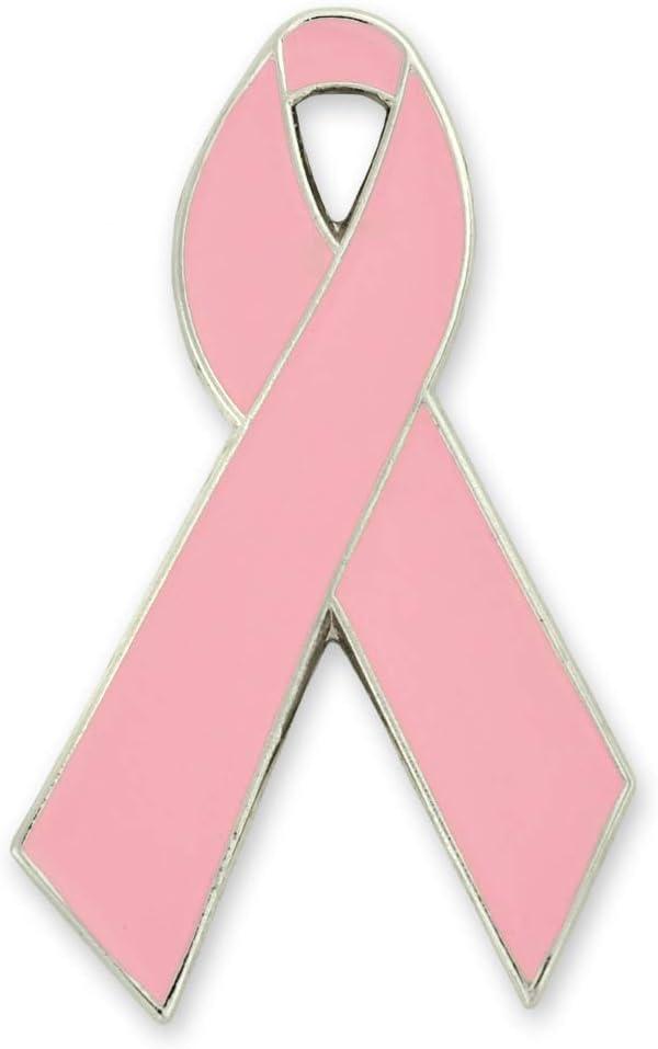 PinMart Pink Breast Cancer Awareness Ribbon Max 52% OFF wit Enamel Lapel Pin Bargain sale