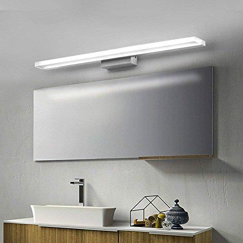 Allamp Inicio Espejo de baño Faros simple llevada moderna delantera de espejo de baño personalizado luz lámpara de pared impermeable anti-niebla espejo faros con bombillas incluido, el espejo del faro