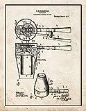 Secador de pelo Patente Estampado Viejo Look con Frontera (1