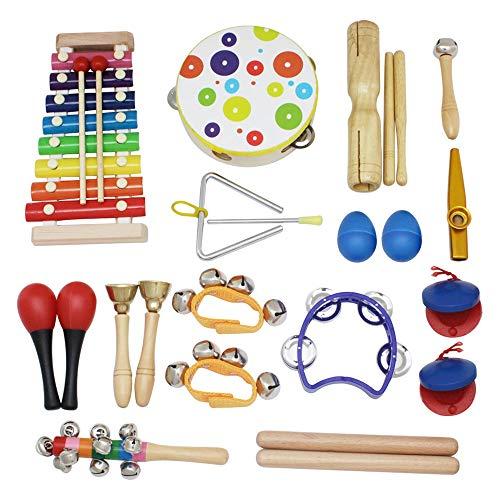 SODIAL 19 Unids Orff Conjunto de Instrumentos Musicales Ni