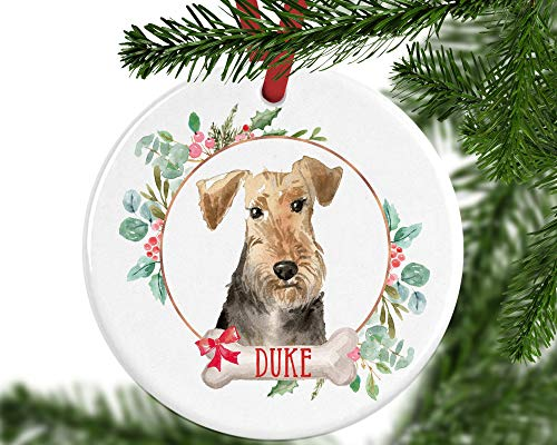 PotteLove Personalized Welsh Terrier Christmas...