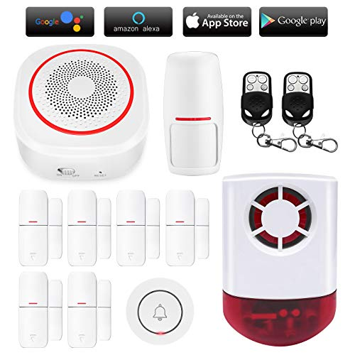 TUYA Smart Home Security Alarm Siren System, Hacevida H3 Wireless WiFi...