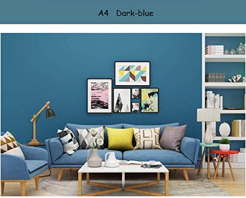 Niet-geweven effen gele effen behang rollen voor muren Home Decor 3D Wall Paper roll wallcoverings A4 Drak Blauw
