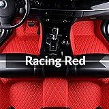 Super1Six Alfombras De Automóvil, para Ope-l Astra Mokka Insignia Cascada Corsa Adam Ampera Andhra Zafira,Racing Red,Wheel Left