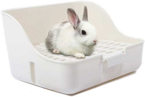 Boîte à litière de lapin MMBOX facile à nettoyer, pour apprendre à utiliser la toilette, pour petits animaux/lapins/c...
