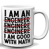 I'm Good With Math Engineer's Novelty White 11 OZ Coffee Mug White Elephant Sarcasm Mug for Math Lovers
