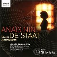 Anais Nin / De Staat (2011-10-25)