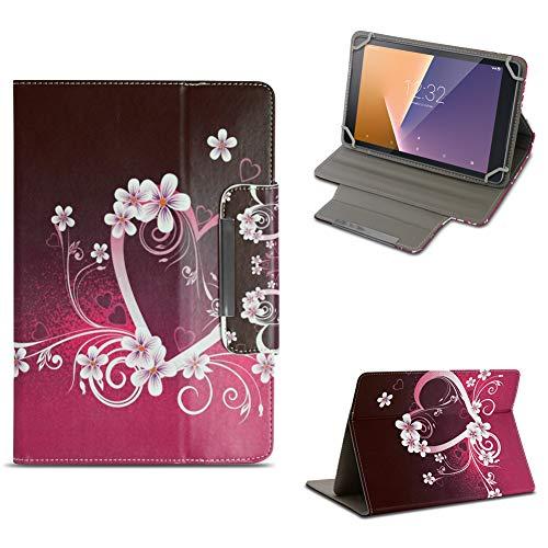 NAUC Tablet Tasche für Vodafone Smart Tab N8 Hülle Schutzhülle Hülle Schutz Cover Stand, Farben:Motiv 7