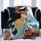 kangconnie03 Anime Movie Pocahontas mantas de forro polar muy suaves, cálidas y mullidas, fácil de cuidar, calidad adecuada