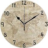 gardenia store Reloj de pared circular con diseño de mapa a