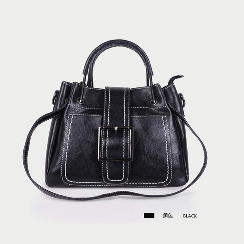 Hxkb Crossbody bag Umhängetasche Umhängetasche Tasche Weibliche Wilde Mode Retro Handtasche Breite Schultergurt Umhängetasche B07MV738BL  Spezielle Funktion