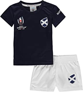 Scotland Rugby World Cup 2019 Team 2 Piece Baby Kit Blue Fan Top Tee Shirt