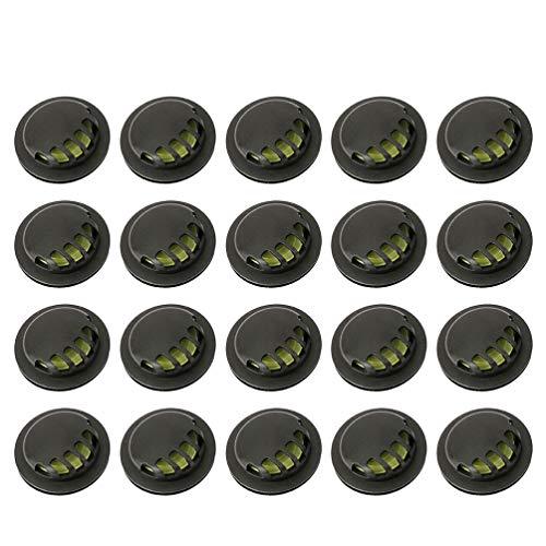 Exceart 50 Stücke Mundschutz Atemventil Ventil DIY Ausatemventil Atemschutz Zubehör Ersatz Gesichtsschutz Filter Atemfilter für Outdoor Laufen Radfahren Staubschutz
